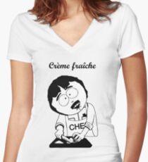 Creme Fraiche South park Women's Fitted V-Neck T-Shirt