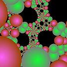 Bright Green and Pink Orbs by pjwuebker