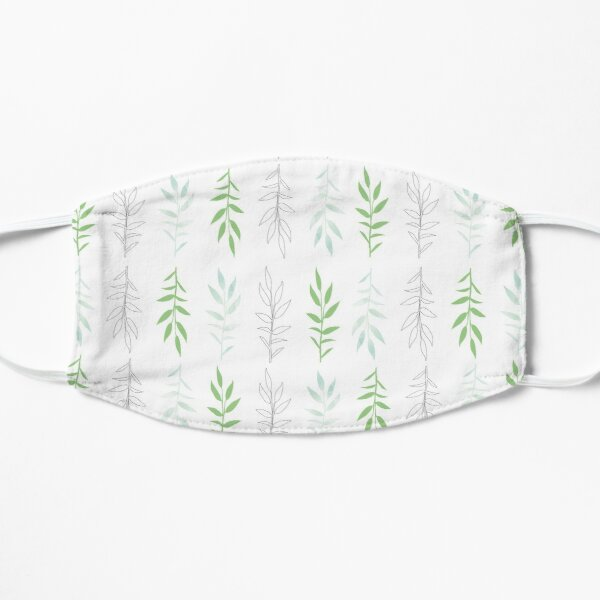 Green leaves, pattern inspired by nature Mask
