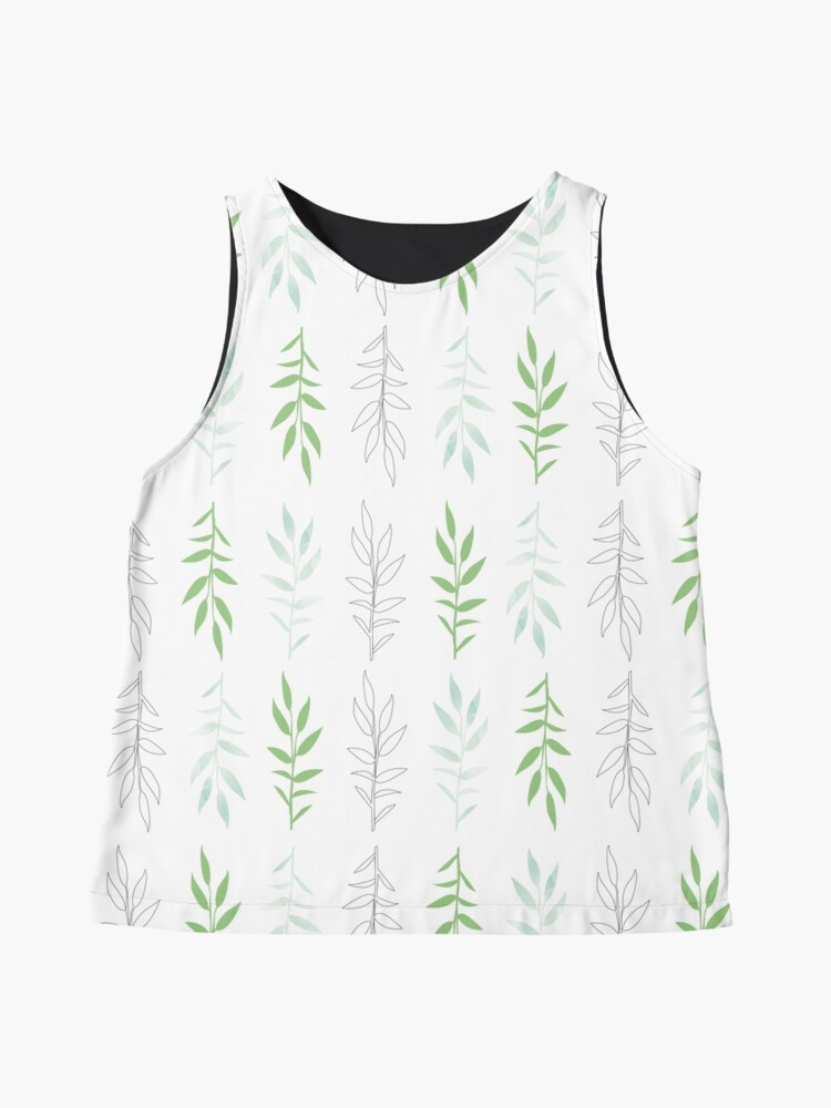 Alternate view of Green leaves, pattern inspired by nature Sleeveless Top