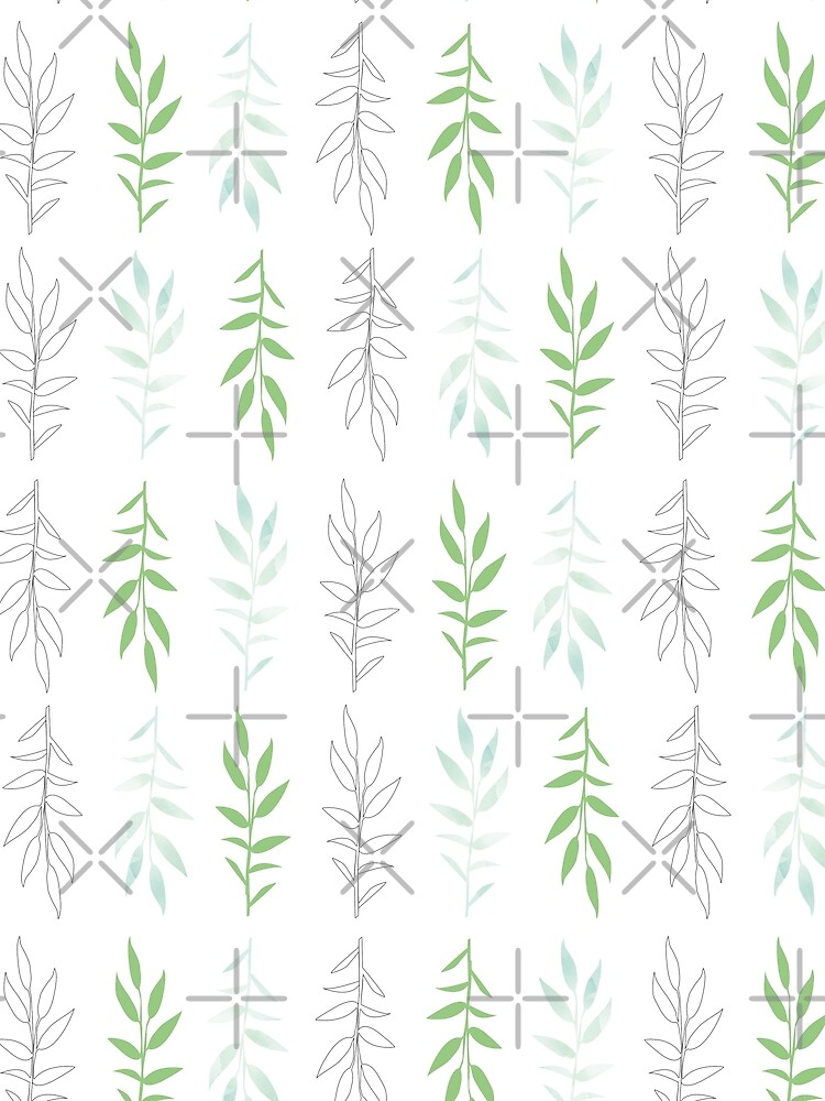 Green leaves, pattern inspired by nature by ColorsHappiness