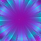 Blue and Purple Ribbon Pit Abstract by pjwuebker