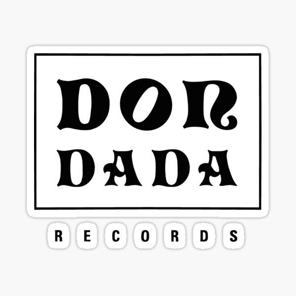 Wann - Don Dada Records logo (noir) Sticker