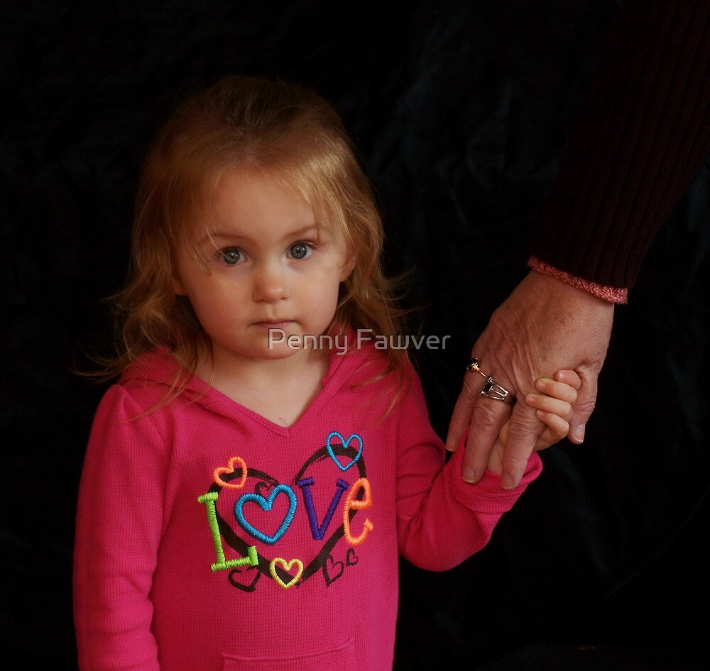 Mackenzie being a little shy by Penny Fawver