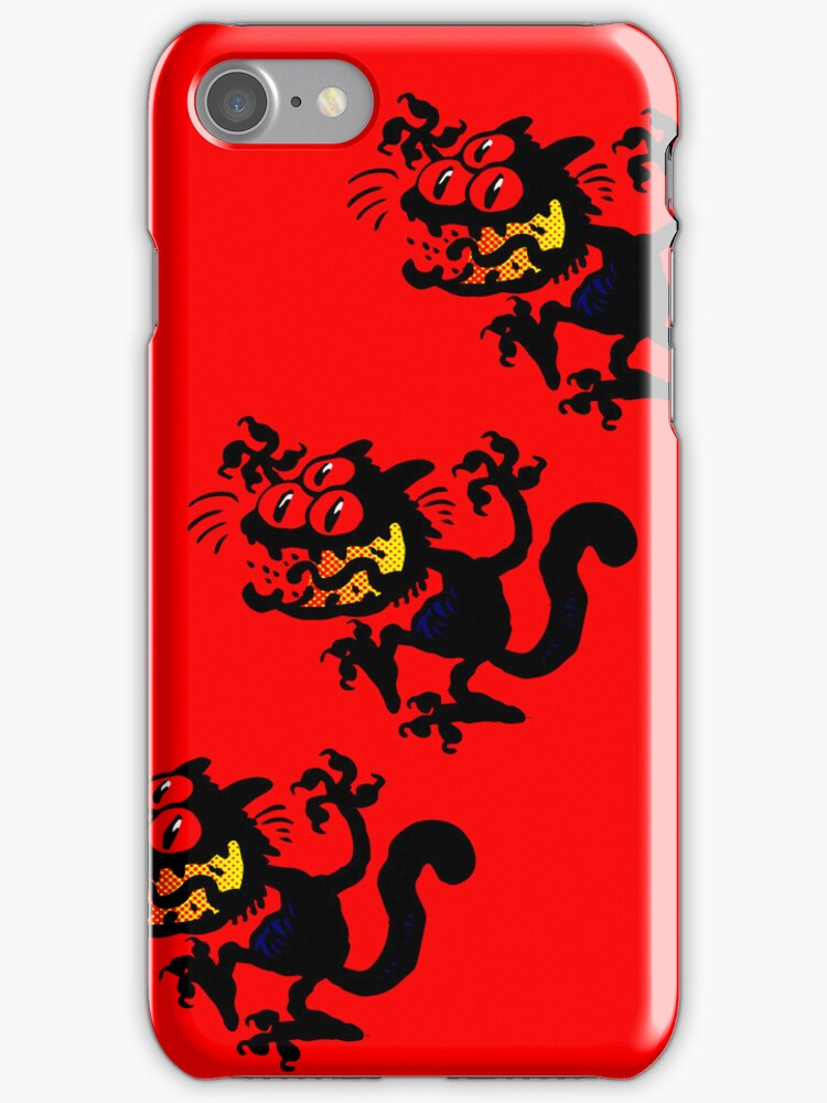 Cartoon Scaredy Cat iPhone Cases by Cheerful Madness!! by cheerfulmadness