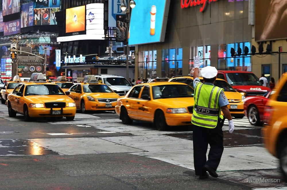 Yellow Cabs by JaneMerson
