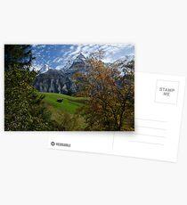 Swiss Fall Meadow below Eiger Postcards