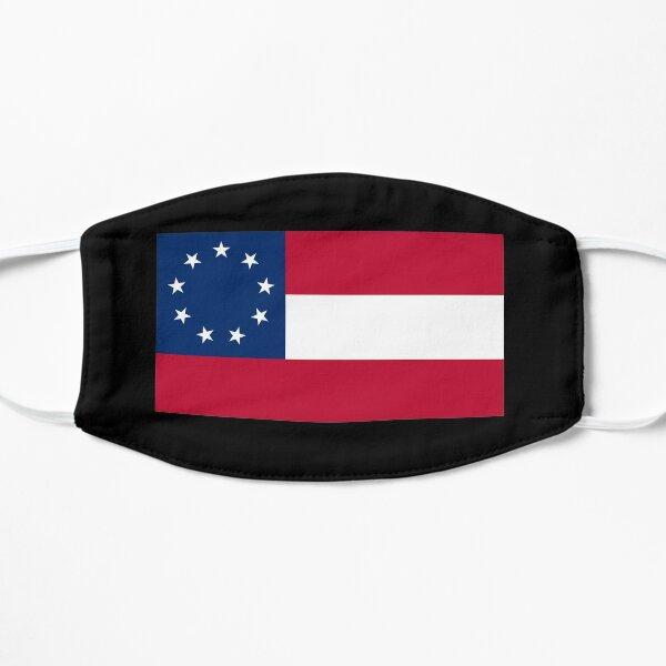 Stars & Bars. USA, America, First American National Flag, 9 stars, 1861. Flat Mask