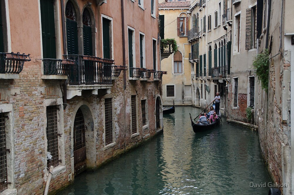 Venice quiet Canal by David Galson