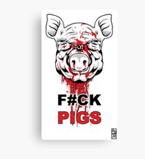 F#CK PIGS Canvas Print