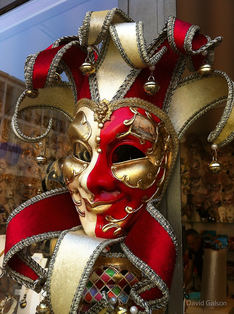 Colorful mask, venice by David Galson