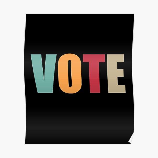 VOTE RETRO EDITION Poster