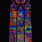 Religious stained glass window. by Lee d'Entremont