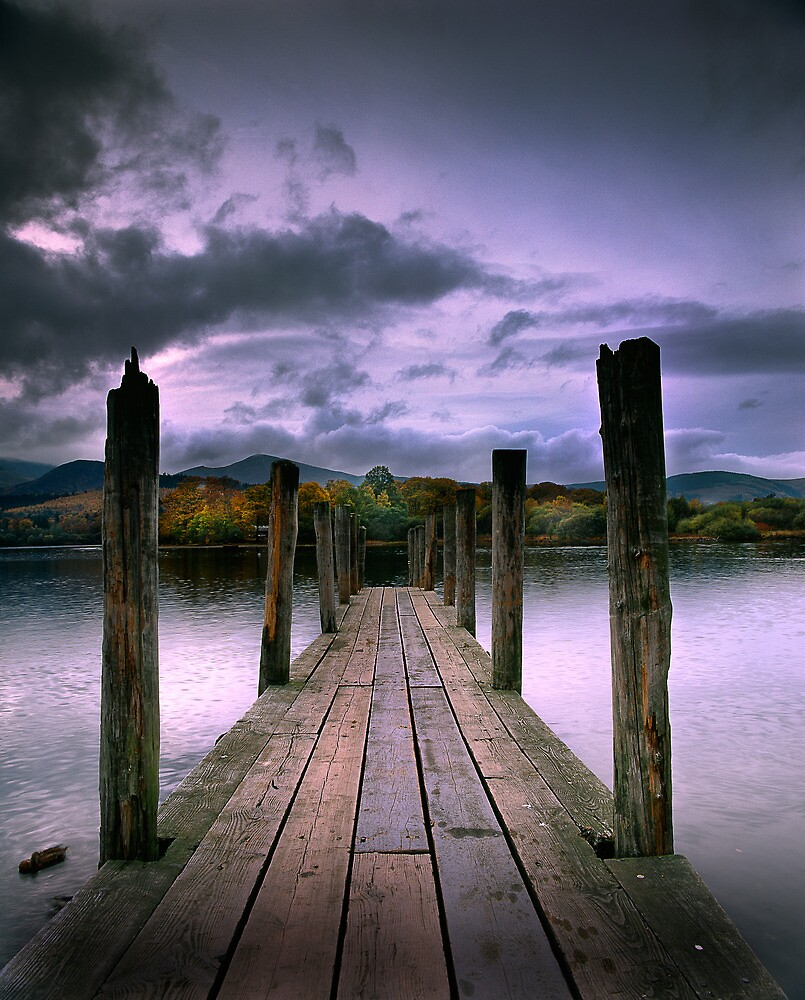 Jetty on Windermere, English Lake District by DBigwood
