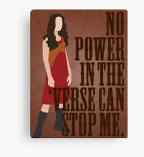 River Tam - No Power In The 'Verse Can Stop Me Canvas Print