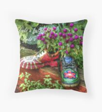 Who finds a faithful friend, finds a treasure... Throw Pillow