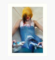 Psycho Jaws Art Print