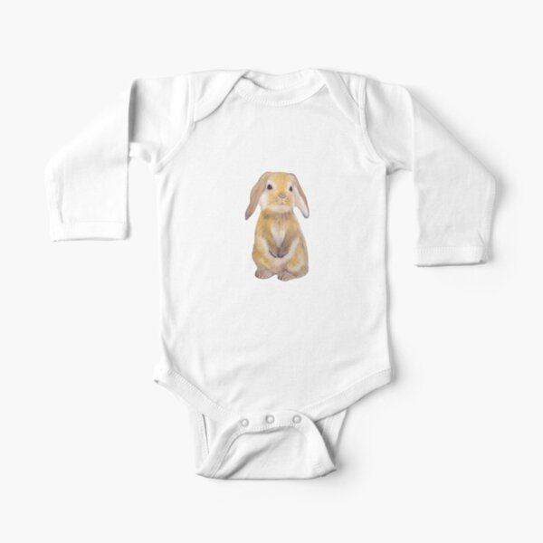 Bunny Painting Tatra Cottage Long Sleeve Baby One-Piece