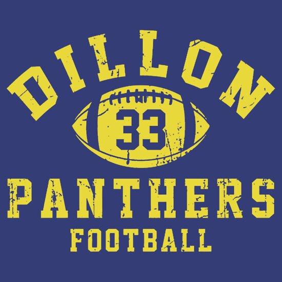 TShirtGifter presents: Dillon Panthers Football - 33 Blue