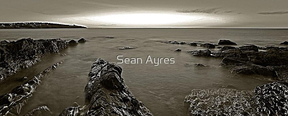 B+W beach by Sean Ayres