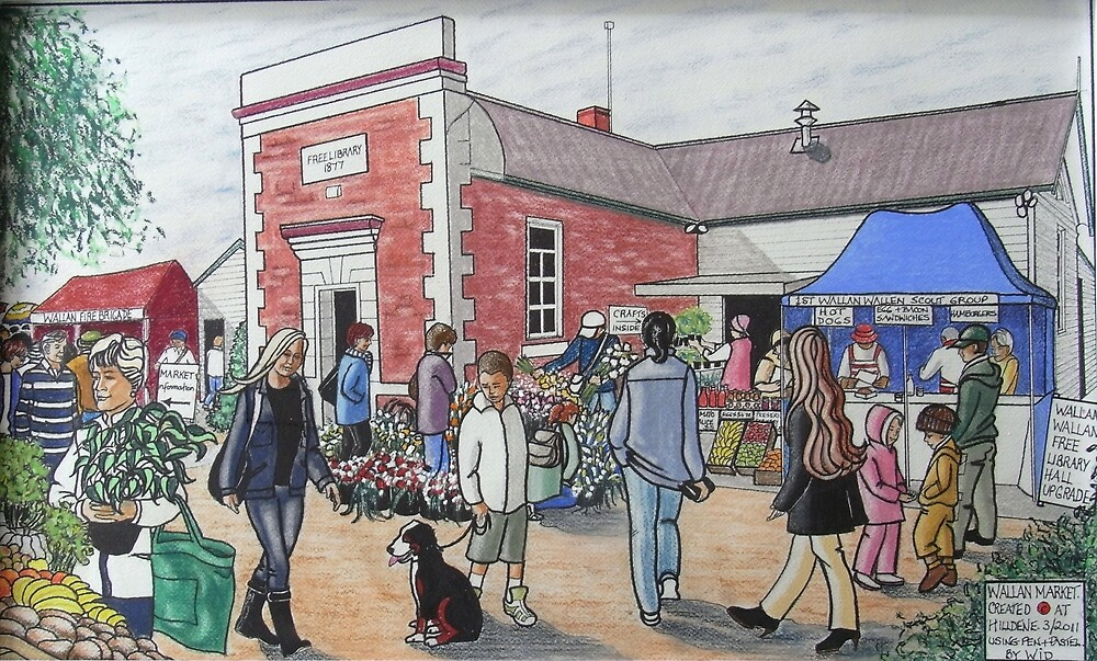 The Wallan Country Market by widdy