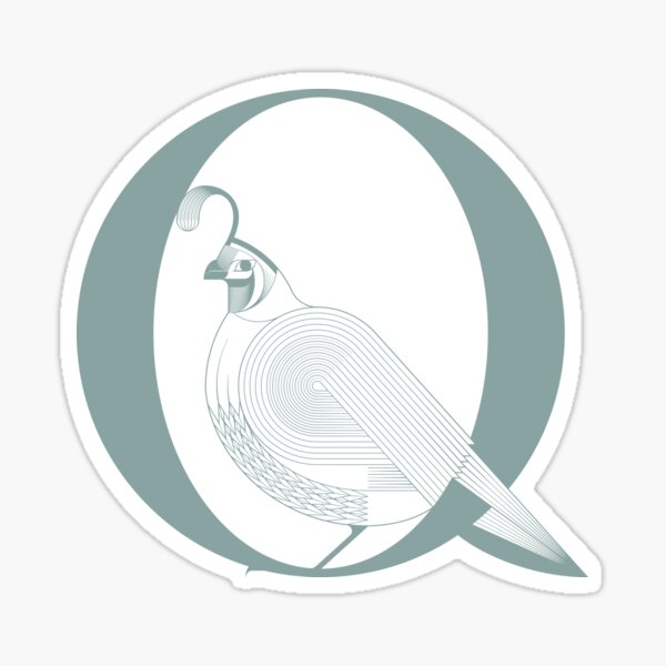 Letter Q stands for Quail Sticker