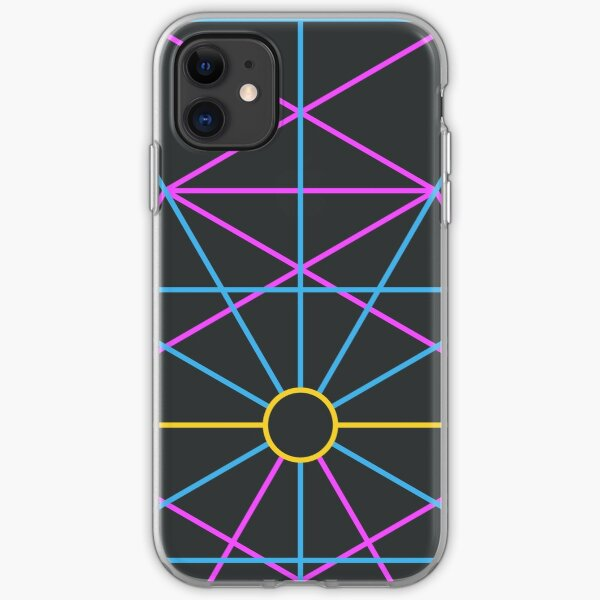 Cosmic Face, Tree of Life - Black iPhone Soft Case