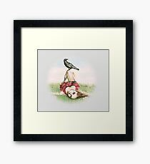 Elena and the Crow Framed Print