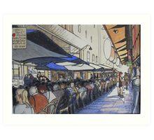 De Graves St. laneway lunch - Melbourne Art Print