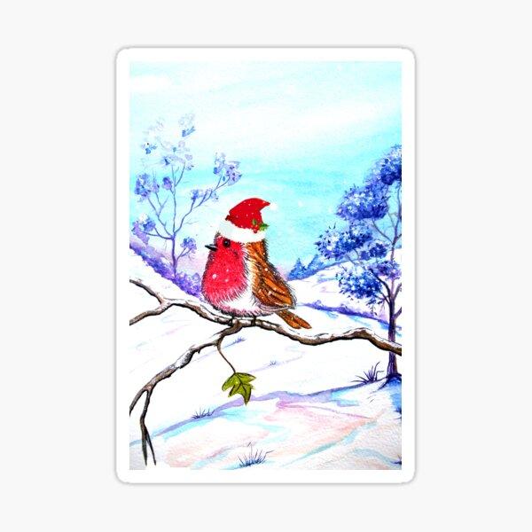 Christmas Bird Sticker
