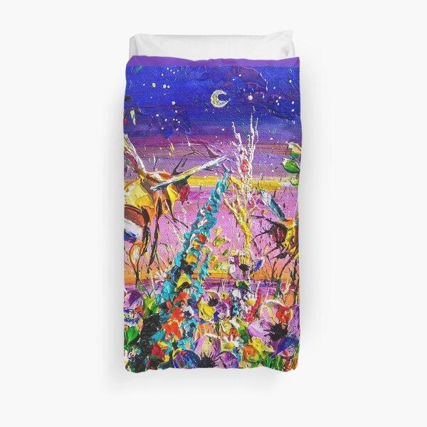 Festival Night bees in the moonlight Duvet Cover