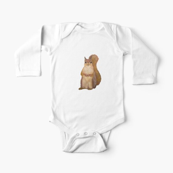 Squirrel Painting Tatra Cottage Long Sleeve Baby One-Piece