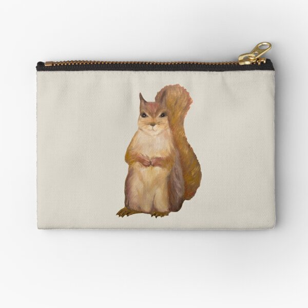 Squirrel Painting Tatra Cottage Zipper Pouch