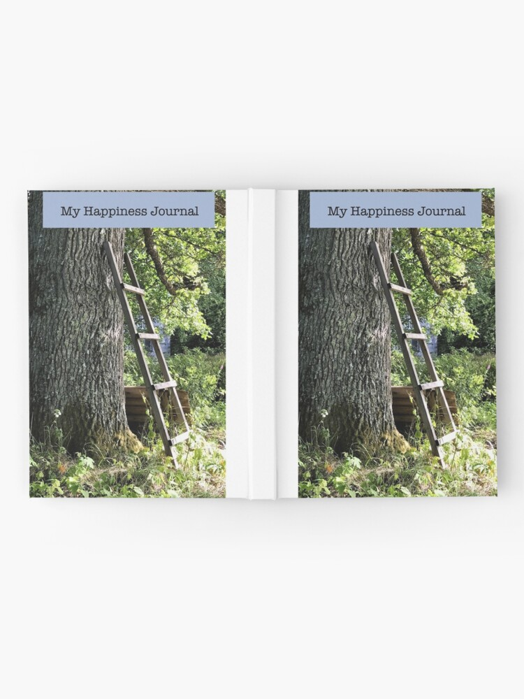 Alternate view of Happiness Journal Ladder Against an Old Oak Tree Hardcover Journal