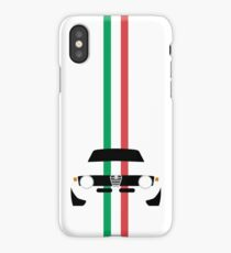 Simplistic Classic Italian coupe with verticle Italian stripes iPhone Case/Skin