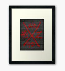 Dead Walking Zombie X-Code (BLACK) Framed Print