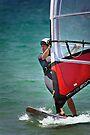 Windsurfing at Merimbula by Darren Stones