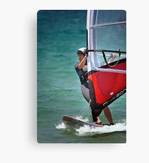 Windsurfing at Merimbula Canvas Print