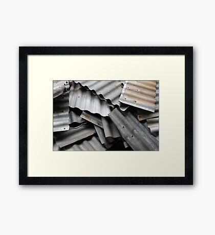 Scrap Metal Framed Print