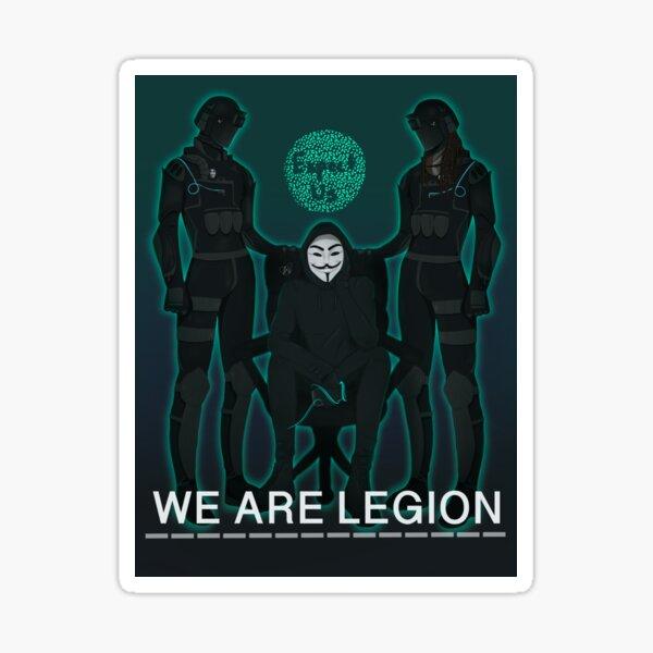 We Are Legion Prints Sticker
