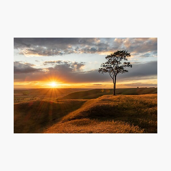 Oliver's Castle sunset Photographic Print