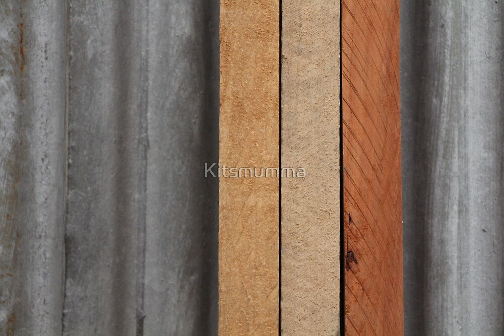 Hardwood on Metal by Kitsmumma