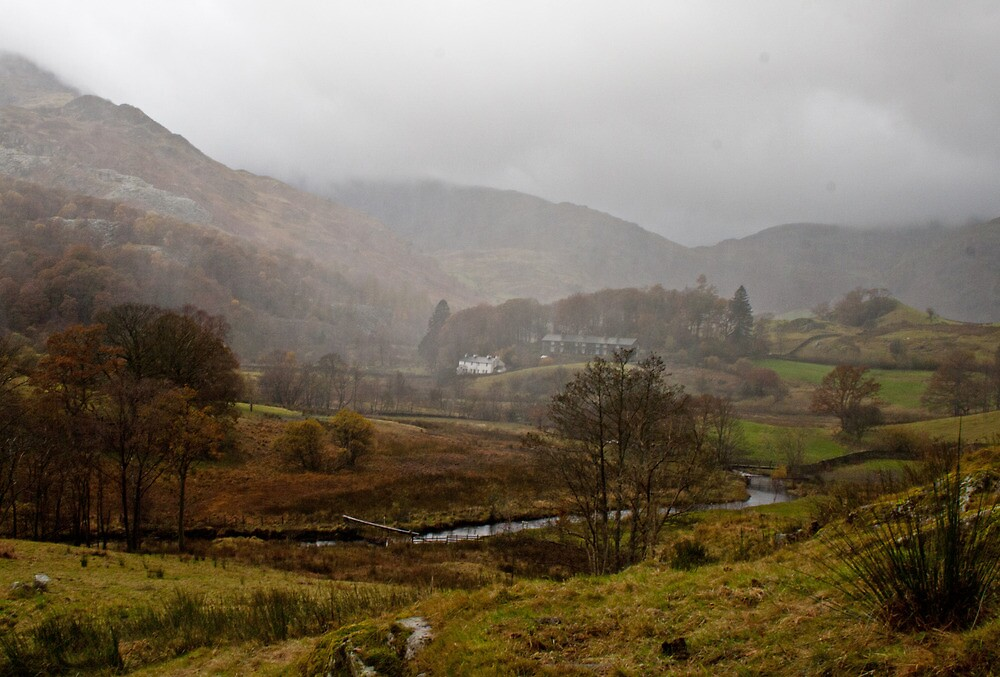 Storm coming: Little Langdale, Lake District by Rebecca Mason