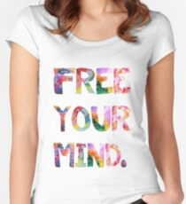 Free Your Mind Women's Fitted Scoop T-Shirt