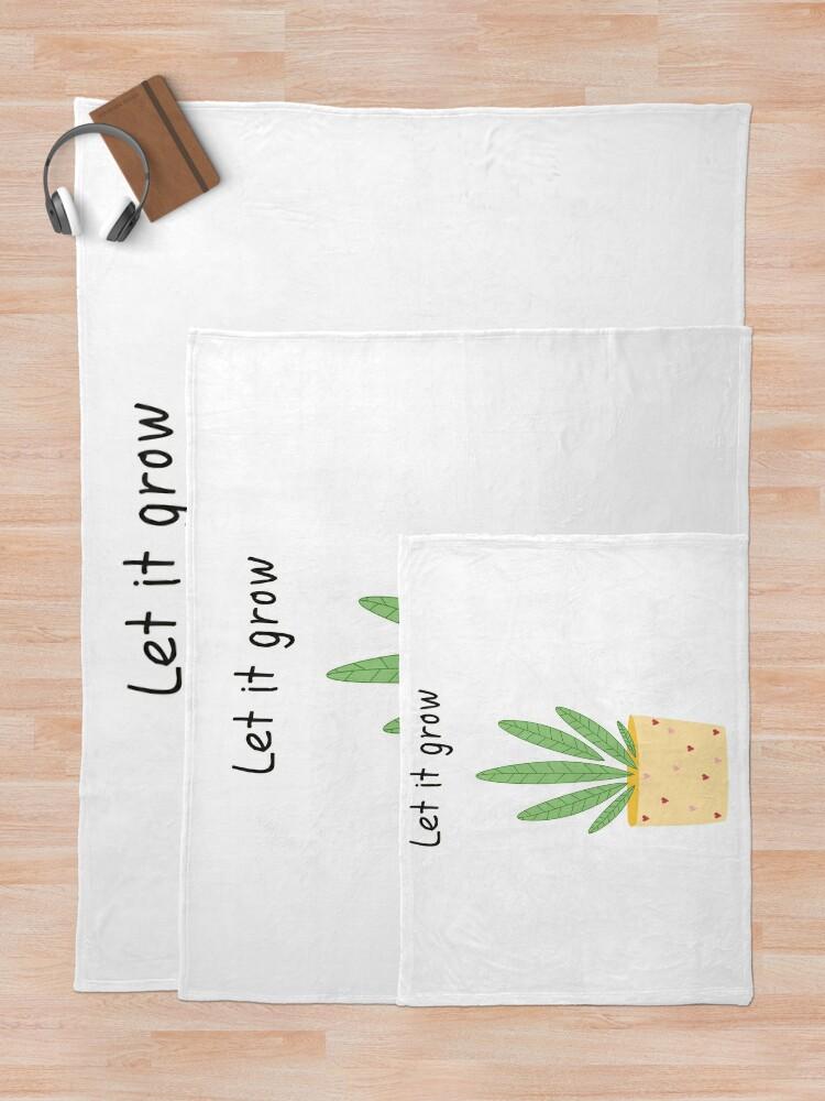 Alternate view of Let it grow, botanical illustration Throw Blanket