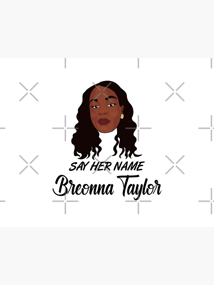 Breonna Taylor Say Her Name Art Board Print By Sammystore1 Redbubble