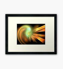 Photon Rays Framed Print
