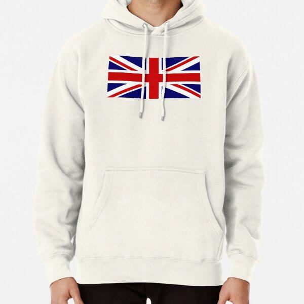 Union Jack Flag Great Britain United Kingdom England Scotland Wales Mens Fleece Hoodie Sweatshirt