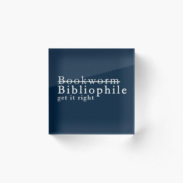 Bibliophile  Acrylic Block