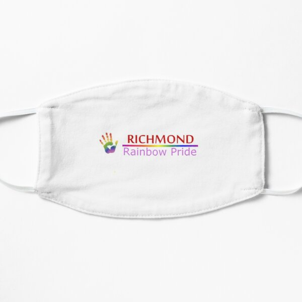 Richmond Rainbow Pride Logo Mask